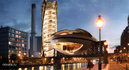 Здание Anti-Smog Innovation Center в Париже