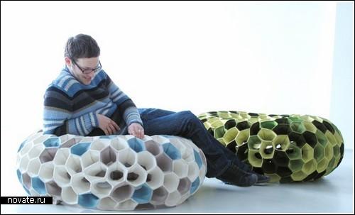 Коралловое кресло