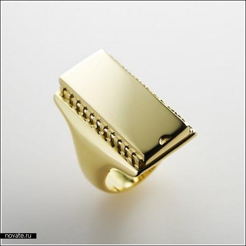 Мужское кольцо в виде чипа