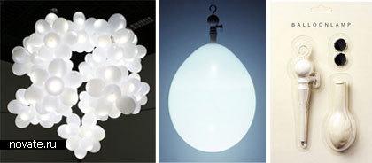 Лампа из воздушных шариков