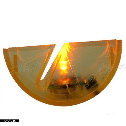 Фруктовые дольки со светодиодами