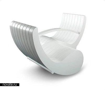 Кресло «Tete-a-Tete Rocker» от Laure Beckerman