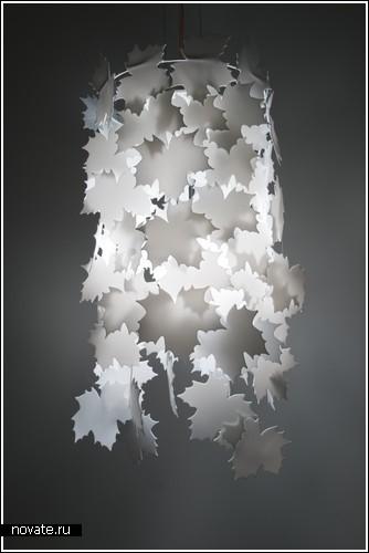 Кленовая лампа от норвежских студентов (выставка Greenhouse)
