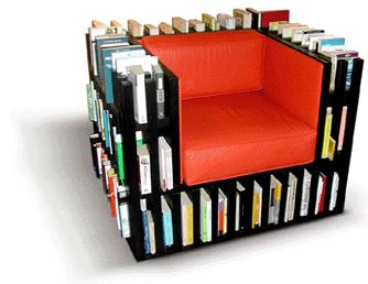 стул Bibliochaise+ с полкой для книг