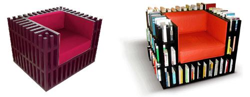 стул Bibliochaise с полкой для книг