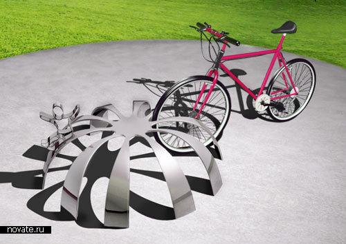 Стойка для велосипедов в общественных местах