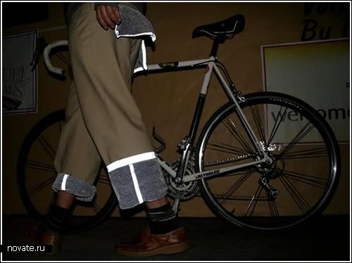 Штаны с «фарами» для велосипедистов