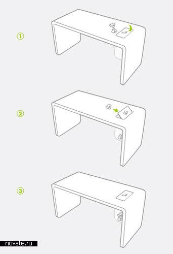 Стол + мусорное ведро от Orcadesign