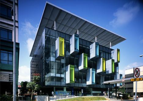 Современная библиотека в сингапуре