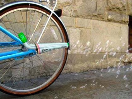 Мыльные пузыри из велосипеда