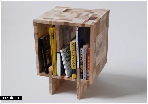 Тумбочка-коробка для книг