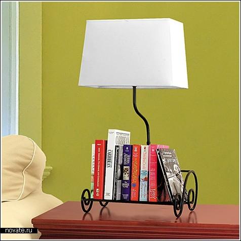 Полка-лампа