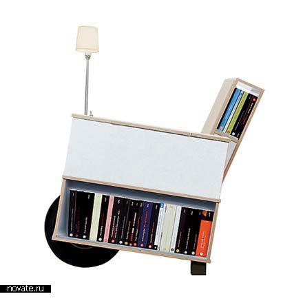 Многофункциональное кресло «Bookinist» от Nils Holger Moormann