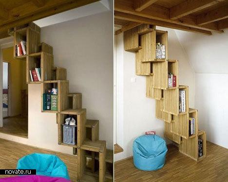 Книжки в лестнице дизайнер maya kvetny