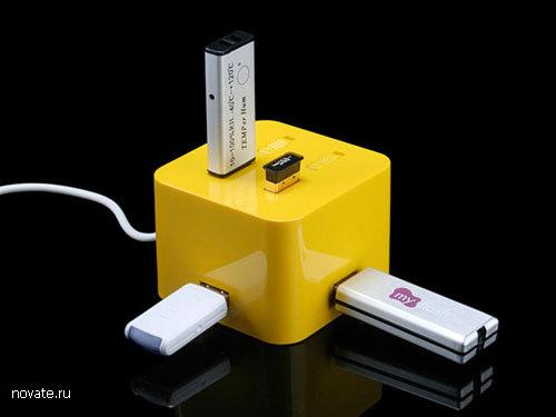 Разветвитель USB в виде куба