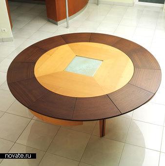 Раздвижной круглый стол от Braun Woodline