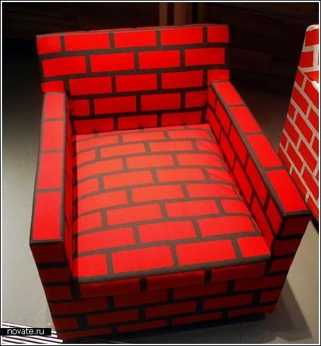 Кирпичная мебель