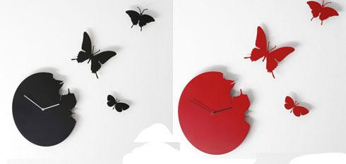 Часы с бабочками  от Pascal Tarabay