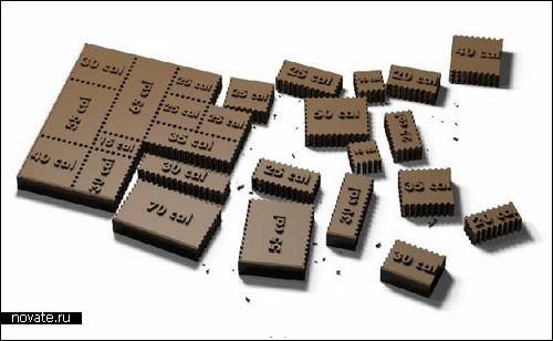 Исписанная плитка шоколада