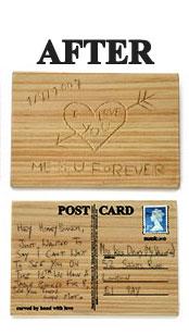 Деревянная открытка от Julie Teninbaum and Drus Dryden