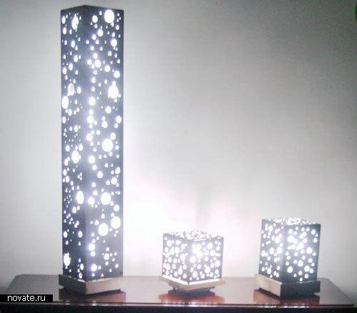 Лампа «Lamparas caseus» от Andres Moreno