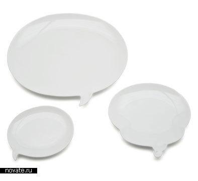 Тарелки в виде окошек сообщений