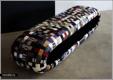 Плетеная скамейка «Cheig» с дыркой