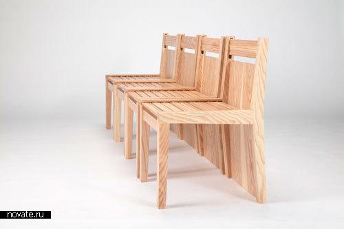 Стол и стулья «Chubby Brothers»