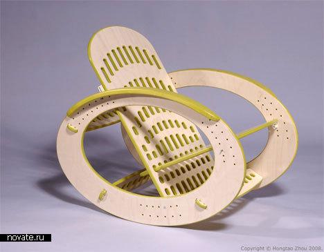 Кресло-качалка CNC Rocking Chair от Hongtao Zhou