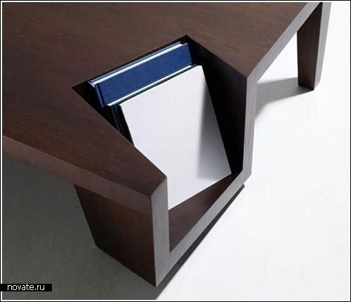 Столик с «уголком» для книг и журналов