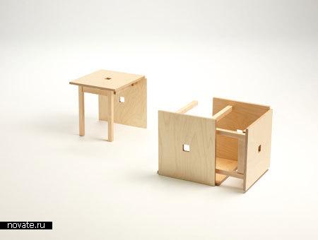 Стулья «Куб 6» от Naho Matsuno