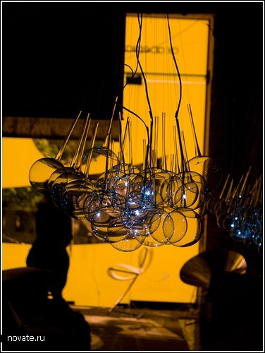 Лампа-облако из тончайшего стекла
