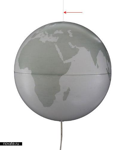 Глобус – воздушный шарик