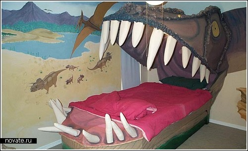 Кровать для фанатов динозавров