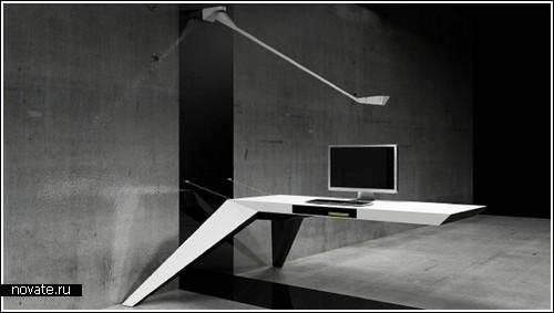 Концепт офисного стола на двух ножках «Ela»