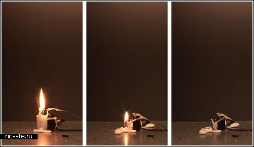 Электрическая свеча от Aram Bartholl