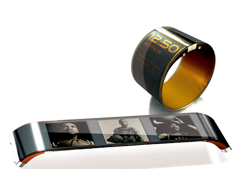 Мультимедийный плеер-браслет - концепт недалекого будущего.