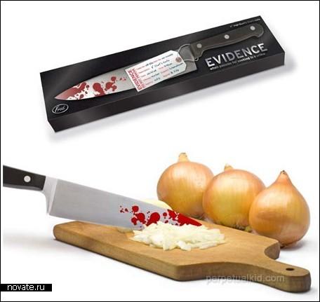 Кровавый кухонный нож