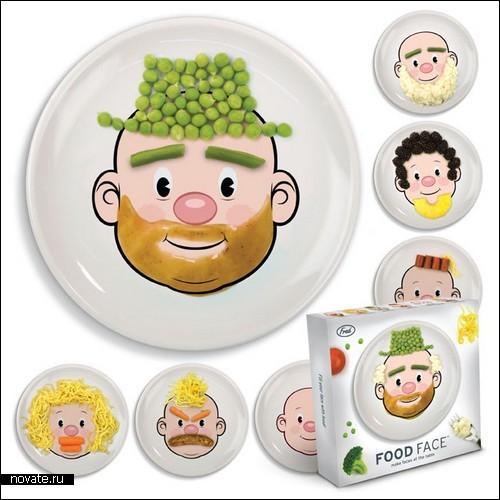 Нарисованные с помощью еды лица