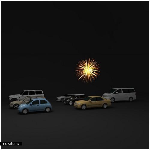 Фейерверк из вашей машины