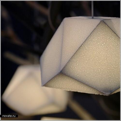 Можно ли сделать пенопласт похожим на бетон или твердый камень.  Оказывается, можно, дизайнеры умеют и не такое.