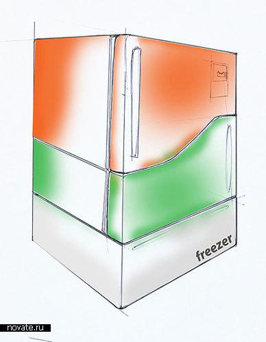 Холодильник с отдельными отсеками