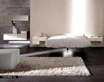 Левитирующая кровать Fluttua от Lago