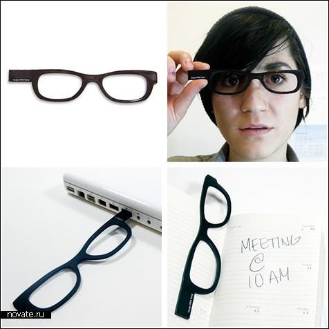 Флешка в почти настоящих очках