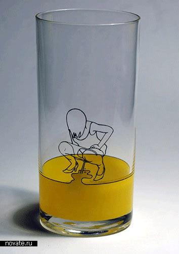 Очень смешной стакан