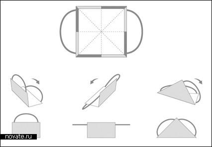 Оригами сумка бумаги