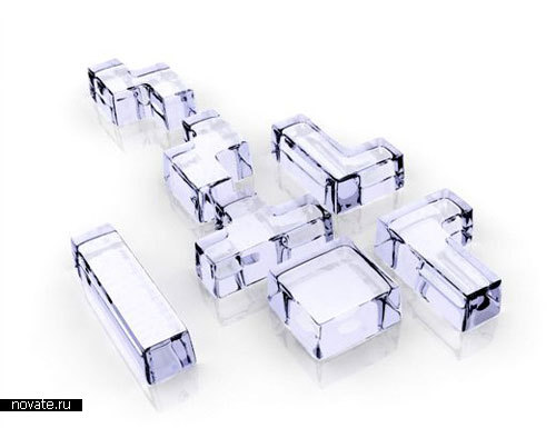 Подставка для льда в виде тетриса