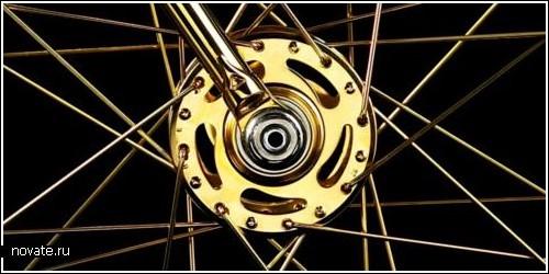 Самый дорогой в мире велосипед из золота