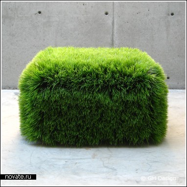 Травяной пуфик