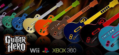 Гитара для игры в Guitar Hero